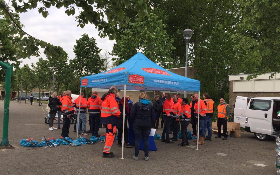 Buurtbedrijf Haarlem helpt mee met extra schoonmaakactie Europawijk